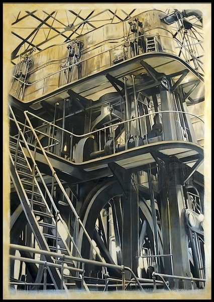 allan gorman Industrial Intrigue Oil on Linen
