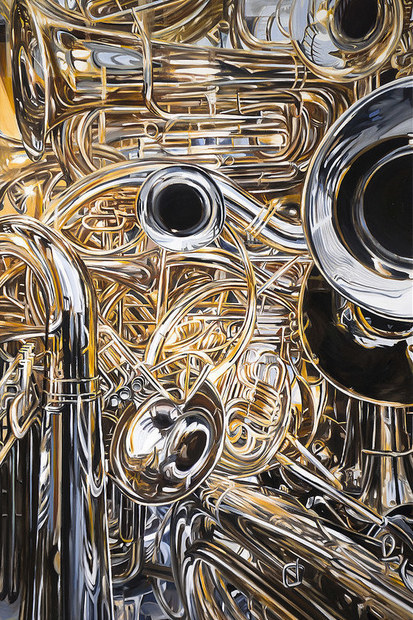 allan gorman Industrial Intrigue Oil on Panel