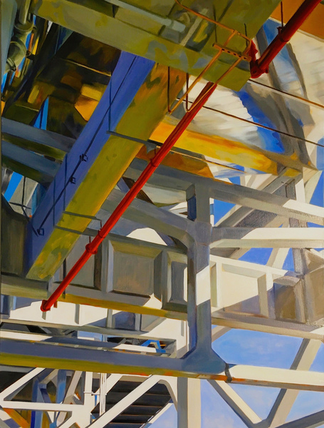 allan gorman Under The El Oil on Linen