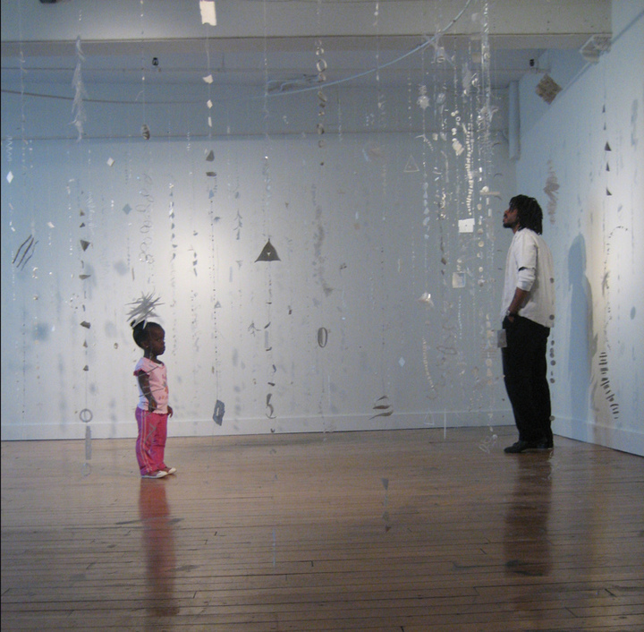 ALLISON PASCHKE Anastasia translucent porcelain, tissue paper, thread, wire