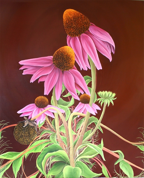 Allison Green The Healing Garden Oil on Canvas