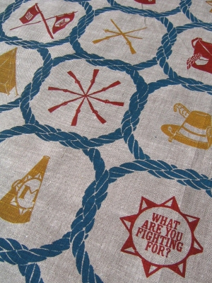 Allison SMITH Victory Hall Silk-screen printed linen