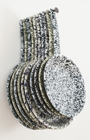 "Allison SMITH Set Dressing Enamelware, Hand Wrought Steel Nail by Denis Brim ""Biscuits"""