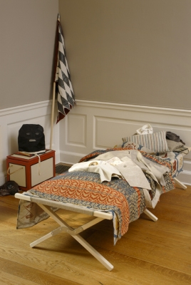 Allison SMITH Coverlets Installation view, Wave Hill Glyndor Gallery