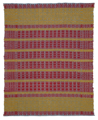 Allison SMITH Coverlets Linen and wool overshot weaving