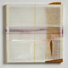 AMANDA  BARROW Paintings oil, ink, thread & fabric on cotton