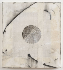 AMANDA  BARROW Paintings sumi ink, cheesecloth & fabric on cotton