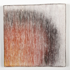 AMANDA  BARROW Shape Meditations gesso, oil pastel, smoke on wood