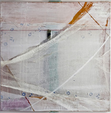 AMANDA  BARROW Paintings oil, fabric & cheesecloth on cotton