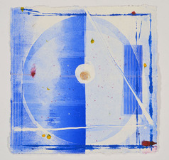 AMANDA  BARROW Prints on Paper monotype print on handmade paper from India