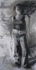 AMANDA CASE MILLIS Self Portraits Charcoal on gessoed masonite