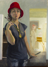 AMANDA CASE MILLIS Self Portraits Oil on gessoboard