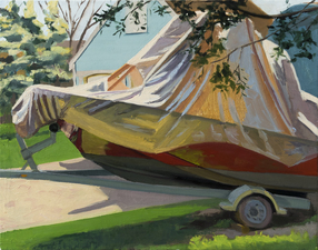 AMANDA CASE MILLIS Outside Oil on linen