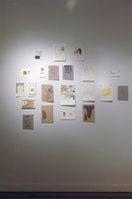 Amanda Lechner Installation and Studio Images works on paper