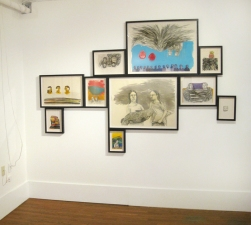 Amanda Lechner Installation and Studio Images Framed Works on Paper