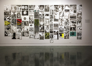 Amanda Lechner Installation and Studio Images 81 ink on paper works