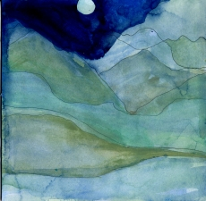 Amie Oliver The Dharma Diaries  watercolor on paper