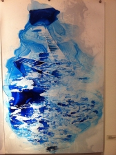 Amie Oliver Heaven, Earth and Sea Series ink on Yupo Paper