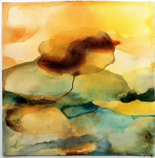 Amie Oliver Heaven, Earth and Sea Series watercolor and ink on paper