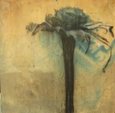 Amie Oliver Botanicals acrylic and charcoal on birch pane