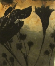 Amie Oliver Botanicals acrylic and ink on MDF panel