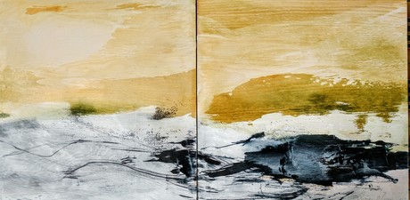 Amie Oliver Field Notes: Small Works acrylic, ink and graphite on birch panels
