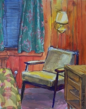 ABMacD Chairs Oil and oil pastel on canvas