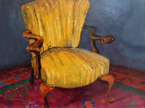 ABMacD Chairs Oil on panel