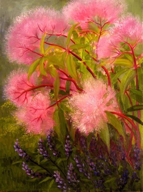 Amy Bock Garden Oil on canvas