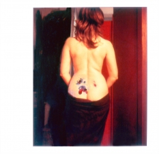 Amy Finkbeiner Self Portraits Polaroid with acrylic paint