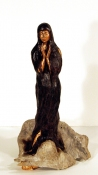 Amy Finkbeiner Saints for Girls  Wax, found wood, acrylic, sculpting compound