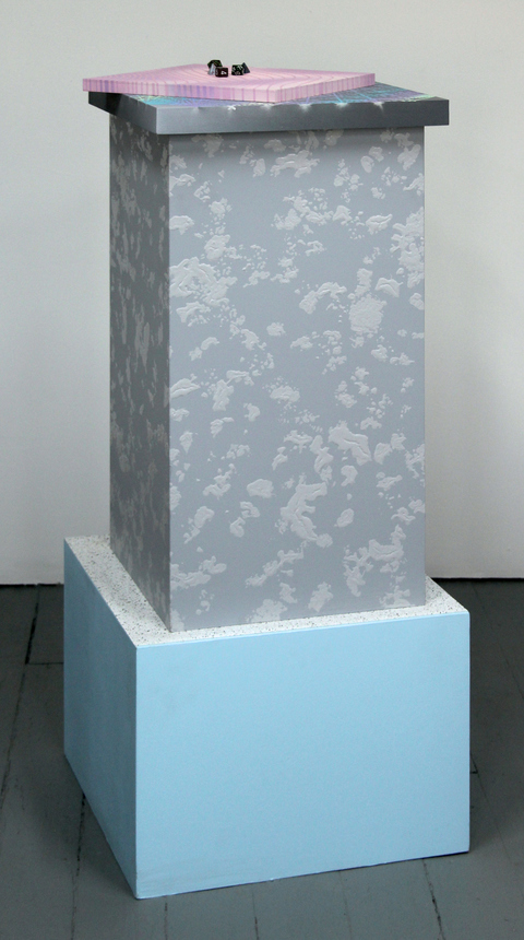 Amy Gartrell More Recently MDF, acrylic on wood panels, latex paint, plastic, 5 dice