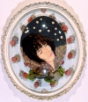 2006-2009 fressed/dried flowers, botanicals, paper, foam core, dome frame