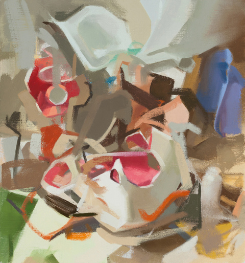 Amy Mahnick Aggregates oil on linen