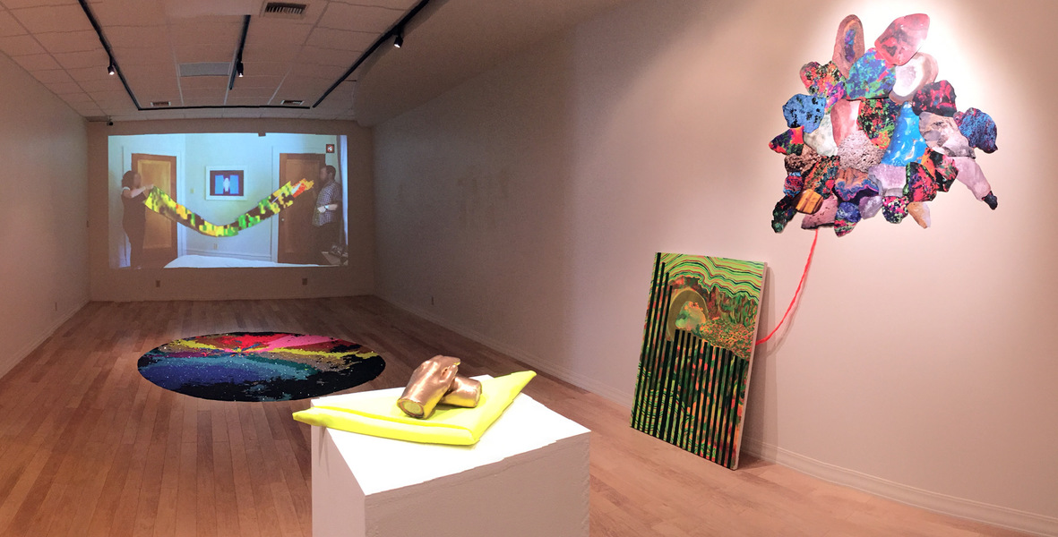 "2016- ""Storm 2.20.16"" Gregory Hardwick Gallery, Columbia College, MIssouri Storm 2.20.16 (Installation View)"