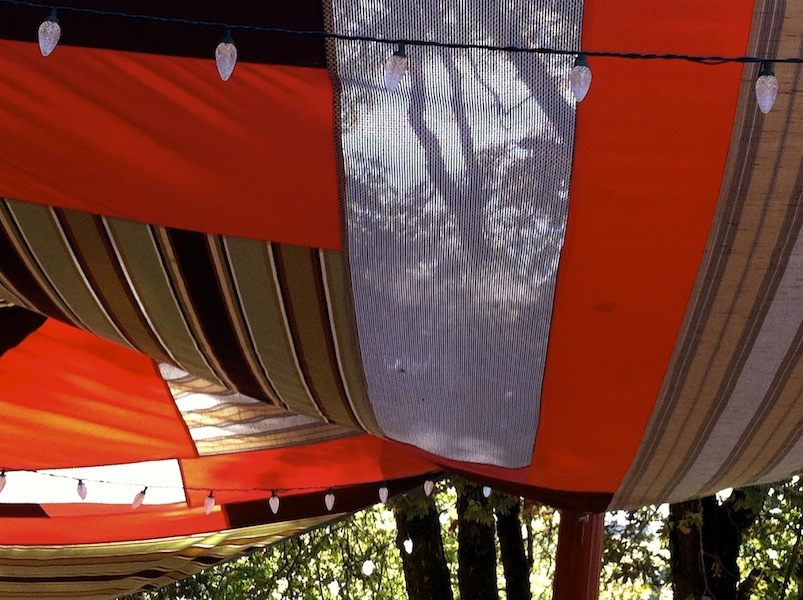 Counterpoint: Shadecloth detail Creekside Studio