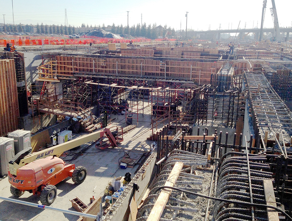 Milpitas BART Station Under Construction