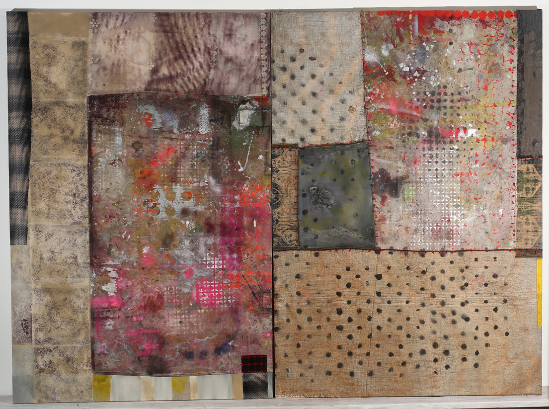 AMY TRACHTENBERG Constructed Paintings oil, spraypaint, acrylic, cloth, and thread on canvas