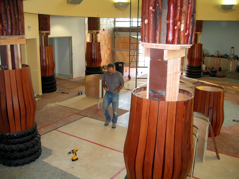 GROUNDWORK Process of installation columns revealed