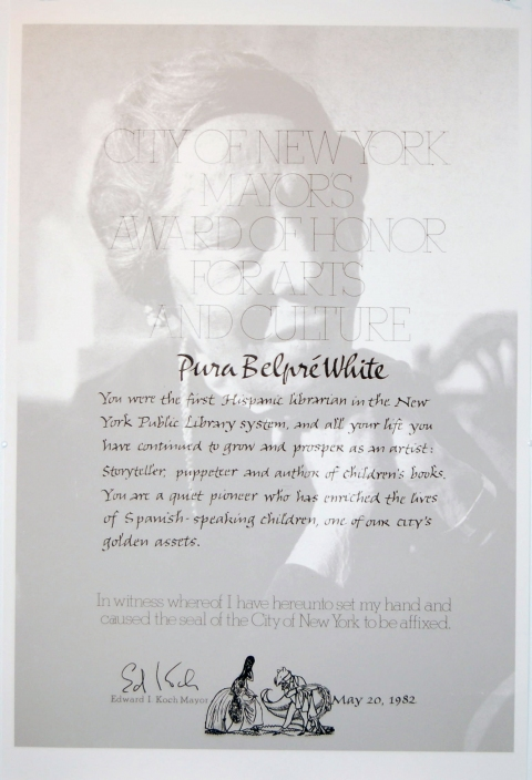Amy Westpfahl  Tribute to Pura Belpre, 2010 Digital Print
