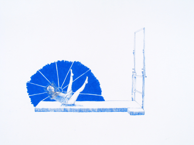 Works on paper France (Blue Pilates)
