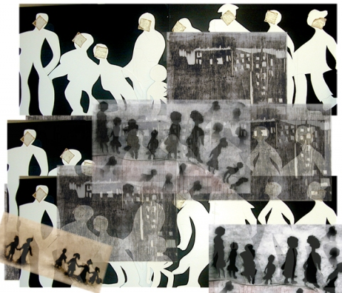 Andrea Rosenthal Collaboration/Montage.        By Myrna Balk and Andrea Rosenthal Photographic collaboration on archival paper