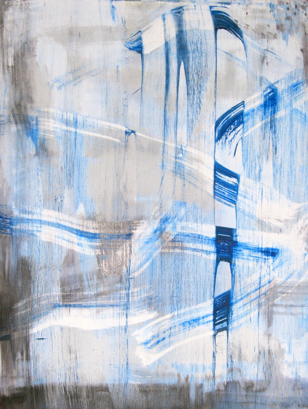 Paintings 2011-2016 Blue & Silver Zig-Zag