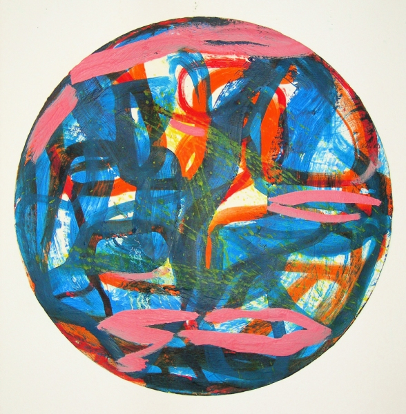 Paintings 2006-2010 Blue & Pink Round