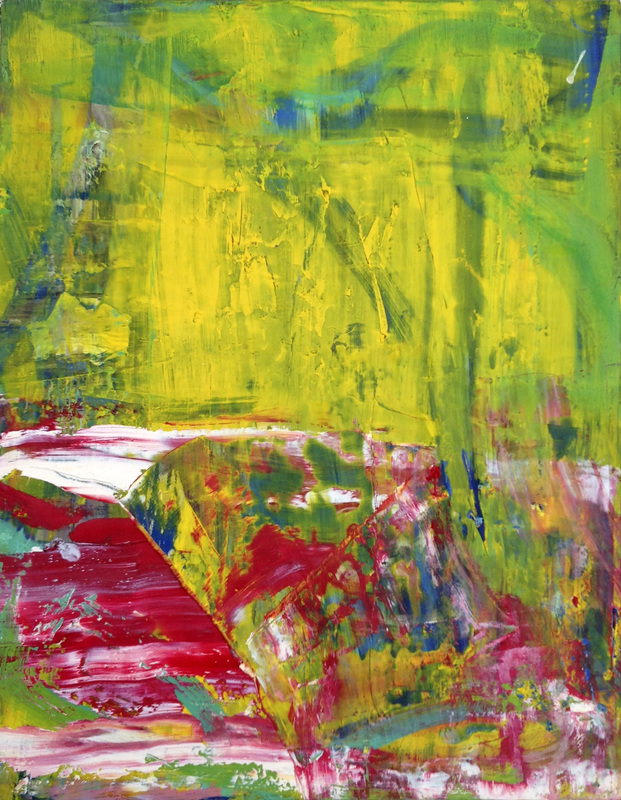 Paintings 2011-2016 Red and Green Split
