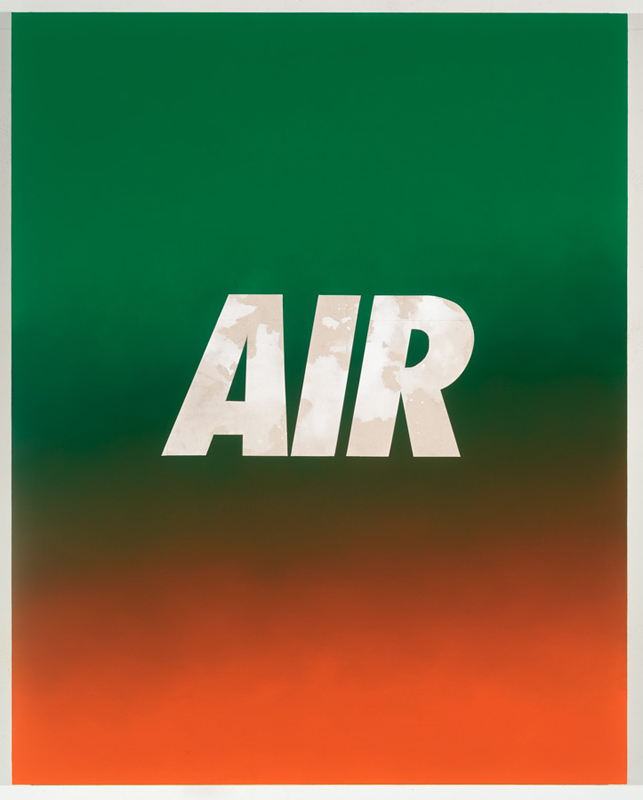 PAINTINGS Air (Green/Orange)