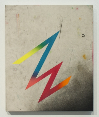 ANDREW BRISCHLER PAINTINGS Oil, spray enamel, and colored pencil on canvas