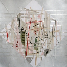 a     n     d     r     e     w            z     a     r     o     u 2009 aluminum tape, paper collage + spray paint on paper