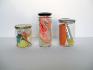 a     n     d     r     e     w            z     a     r     o     u 2012 found items from ft. tilden beach in glass jars