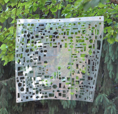 a     n     d     r     e     w            z     a     r     o     u 2015 used shower curtain (plastic + metal grommets)